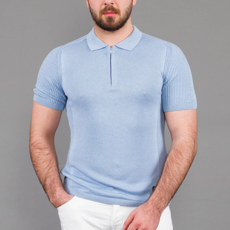 Kellan Tricot Polo Shirt // Blue (S)