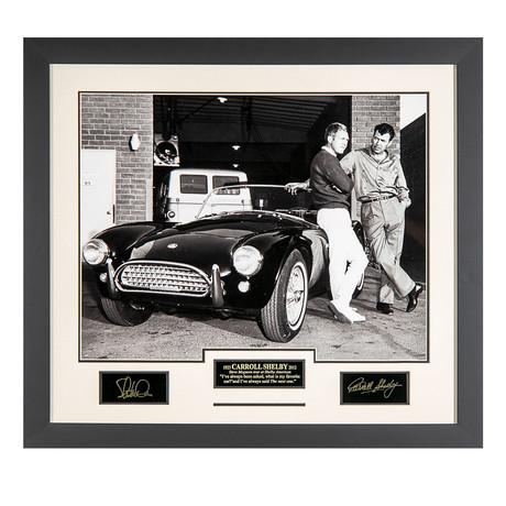 Carroll Shelby + Steve McQueen // Facsimile Signature Display