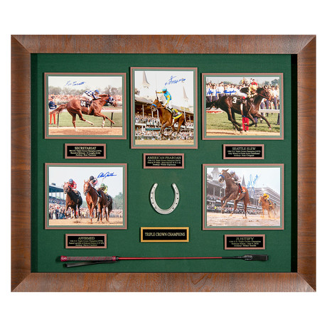 Triple Crown Champions // Autographed Display