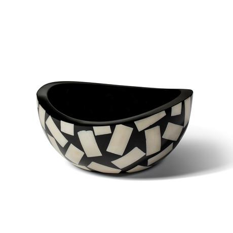 Bone Domino Accent Bowl
