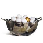 Horn Veneer Serving Bowl