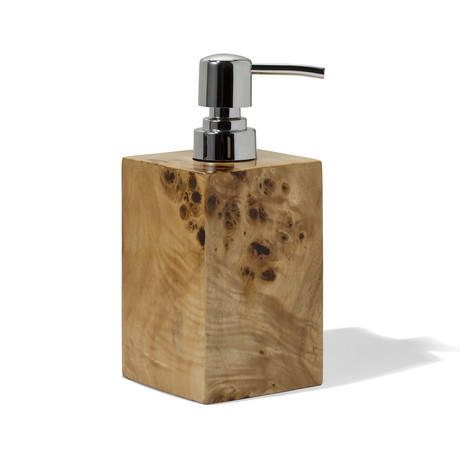 Burl Veneer Soap Dispenser