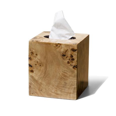 Burl Veneer Tissue Box