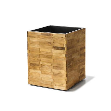 Bamboo Veneer Wastebin