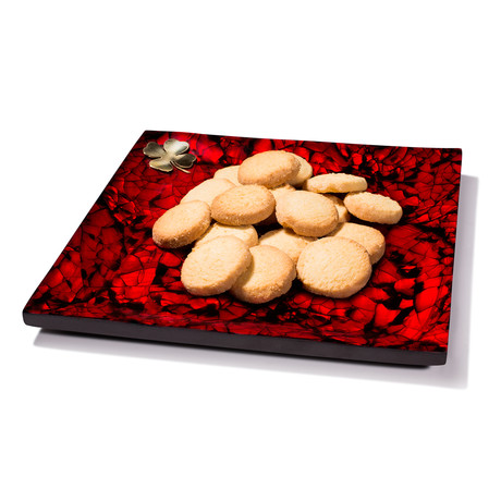 Mother Of Pearl // Accent Tray (Red)