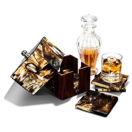 Horn Luxe Coaster Set // Set of 6