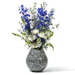 Black Almendro Teardrop Vase