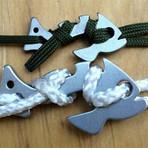 Piranha XL // Aluminum // 10' Paracord // 2 Pack (Black)
