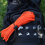Happy Camper Pack // Stainless Steel & Aluminum + 50' Paracord // 12 Multi Pack (Safety Orange)