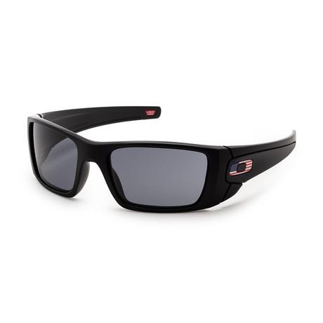 Men's OO9096-38-60 Sunglasses // Matte Black + Gray