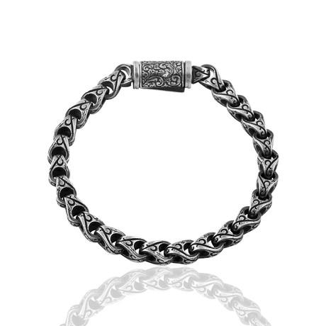 """Geometric Inlaid Bracelet // Oxide (7"""")"""