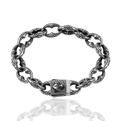 """Inlaid Link Bracelet // Oxide (7"""")"""