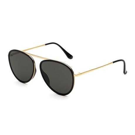 Unisex Dokyu Sunglasses // Black + Gold