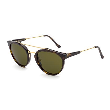 Unisex Giaguaro Sunglasses // Dark Havana + Green