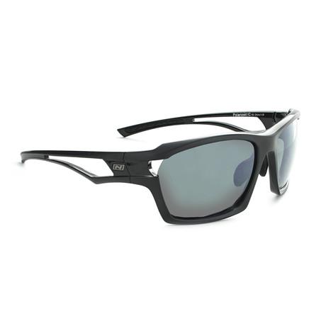 Cassette Polarized Sunglasses // Black Two-Tone // Interchangeable Lenses