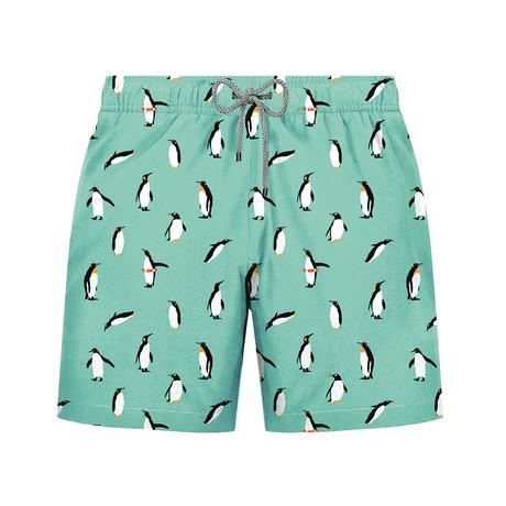 Penguin Swim Short // Green (S)