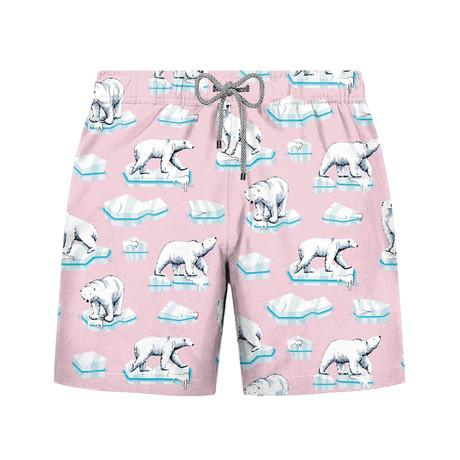 Ice Bear Swim Short // Pink (S)