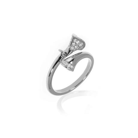 Bulgari Diva's Dream 18k White Gold Diamond Ring // Ring Size: 6.75