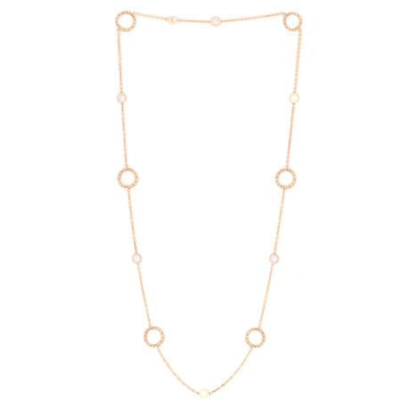 Bulgari 18k Rose Gold Mother of Pearl Necklace