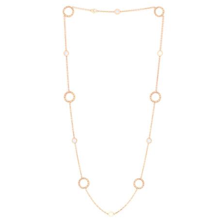 Bulgari 18k Rose Gold Mother of Pearl Bulgari Bulgari Necklace // Store Display
