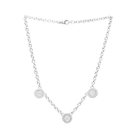 Bulgari 18k White Gold Diamond + Onyx Necklace