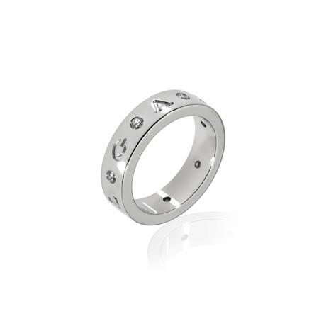 Bulgari Bulgari 18k White Gold Diamond Ring II // Ring Size: 6