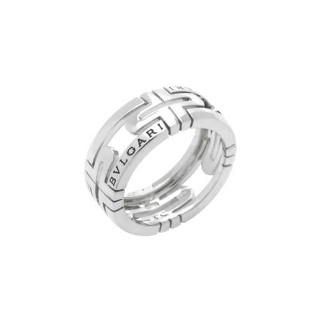 Bulgari Parentesi 18k White Gold Band Ring (Ring Size: 6)