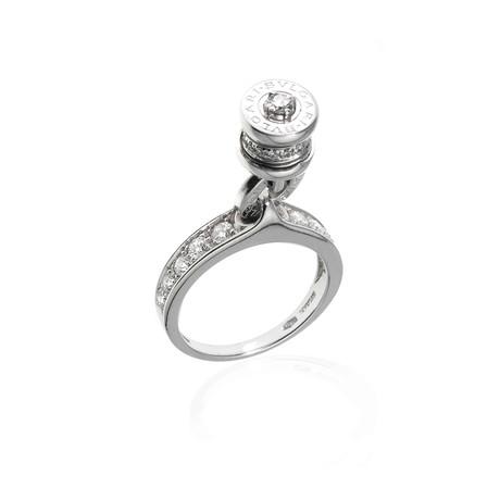 Bulgari B Zero 18k White Gold Diamond Statement Ring (Ring Size: 5.25)
