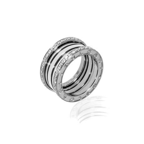 Bulgari B Zero 18k White Gold Diamond Band Ring // Ring Size: 6.75