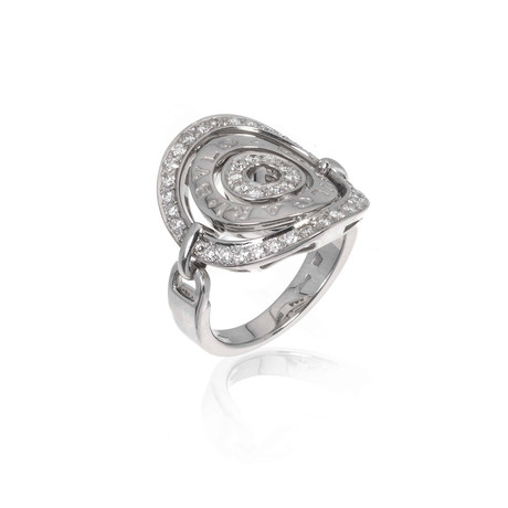 Bulgari Astrale 18k White Gold Diamond Ring // Ring Size: 6.25