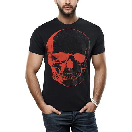 Men's Skull Print Tee // Black (S)