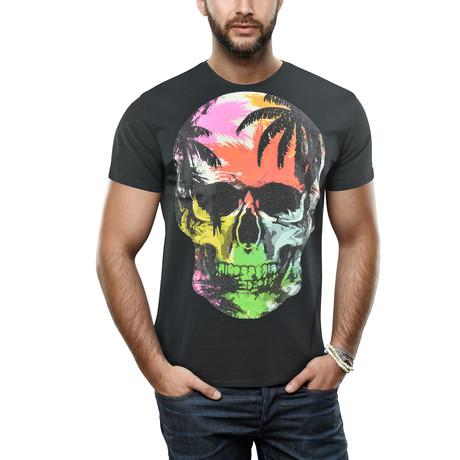 Men's Multicolor Skull Tee // Black (S)