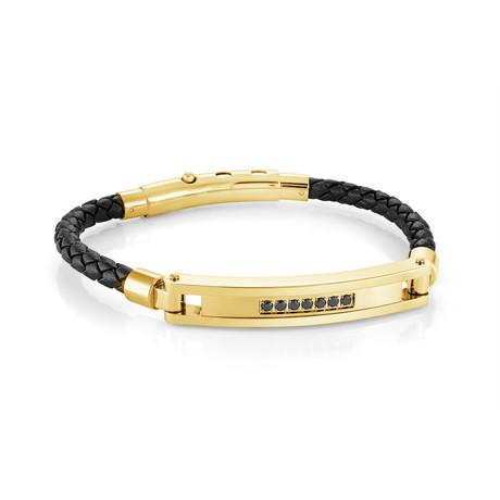 Adjustable Bracelet // Gold + Black