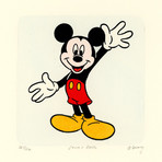Mickey Mouse // Cheers // Sowa & Reiser Etching #D/500 (Unframed)