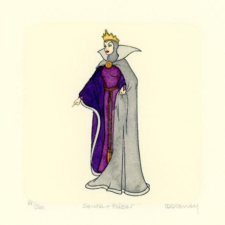 Snow White // Evil Queen // Hand Painted Sowa & Reiser Etching #D/500 (Unframed)