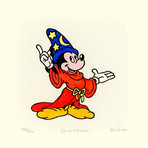 Mickey Mouse // Fantasia // Hand Painted Sowa & Reiser Etching #D/500 (Unframed)
