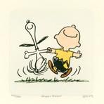 Charlie Brown + Snoopy // Happy // Hand Painted Sowa & Reiser Etching (Unframed)