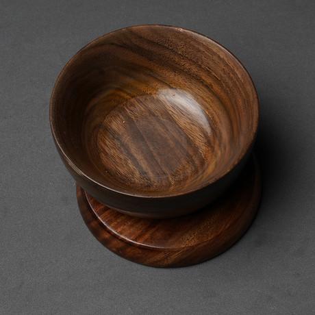 Natural Wood Shaving Bowl Round