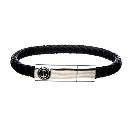 Anchor Bar Bracelet // Black