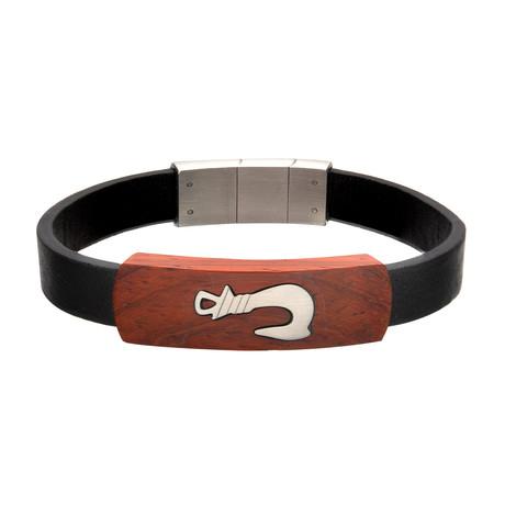 Fish Hook ID Bracelet // Black