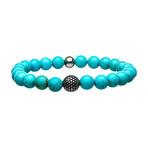 Turquoise Stone Bracelet // Blue