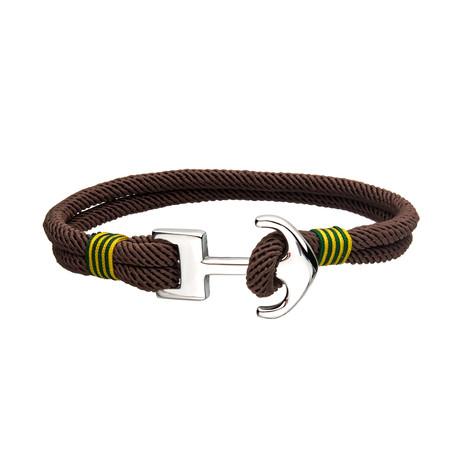 Paracord Anchor Bracelet // Brown