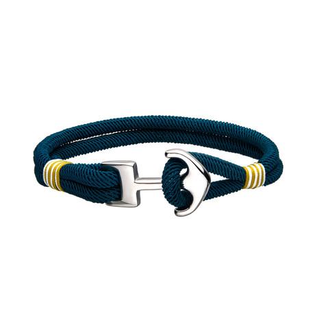Paracord Anchor Bracelet // Blue