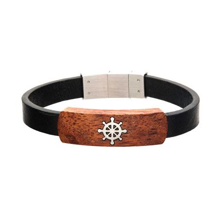 Ship's Wheel ID Bracelet // Black