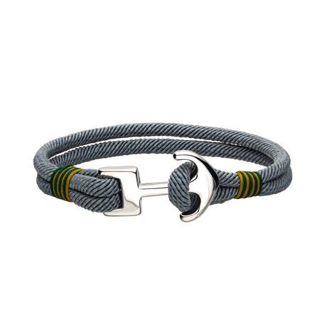 Paracord Anchor Bracelet // Gray