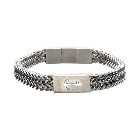Franco Chain Anchor Bracelet // Silver