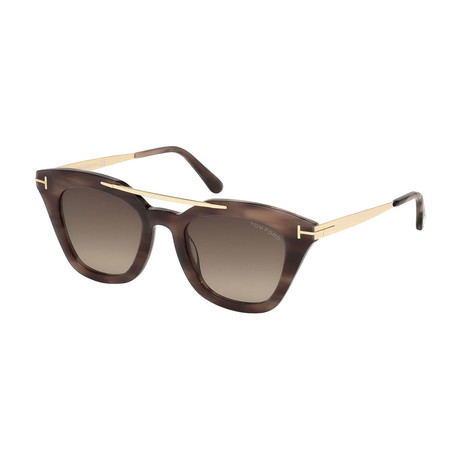 Women's Anna Sunglasses // Havana and Gold + Brown