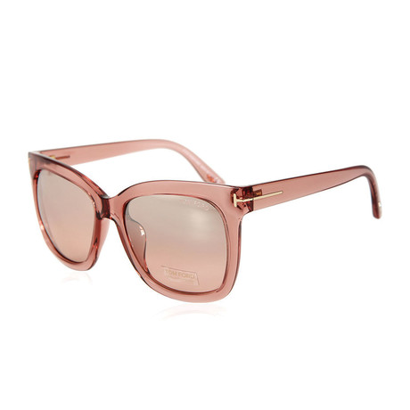 Women's Sunglasses // Pink Crystal + Pink Gradient