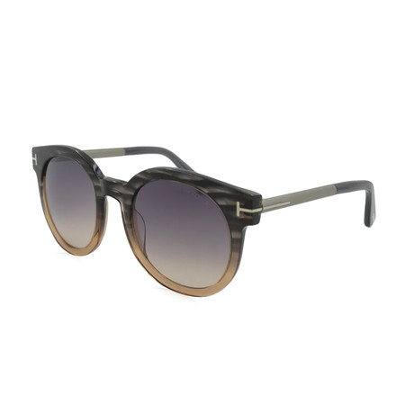 Women's Janina Sunglasses // Gray + Violet Gradient