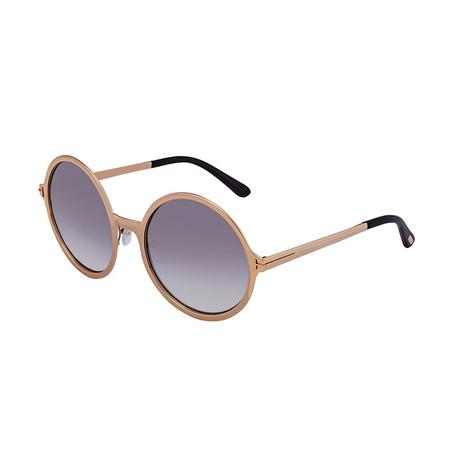 Women's Ava Sunglasses // Rose Gold + Gray Shaded